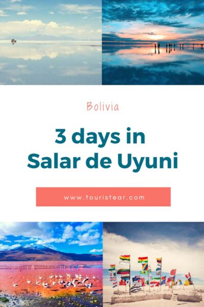 collage 3 days tour salar de uyuni, Bolivia