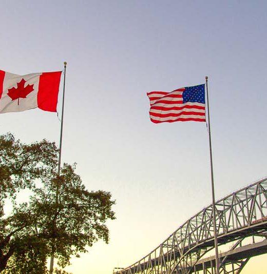 cruzar la frontera de Estados Unidos a Canadá