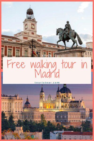 collage free walking tour in madrid