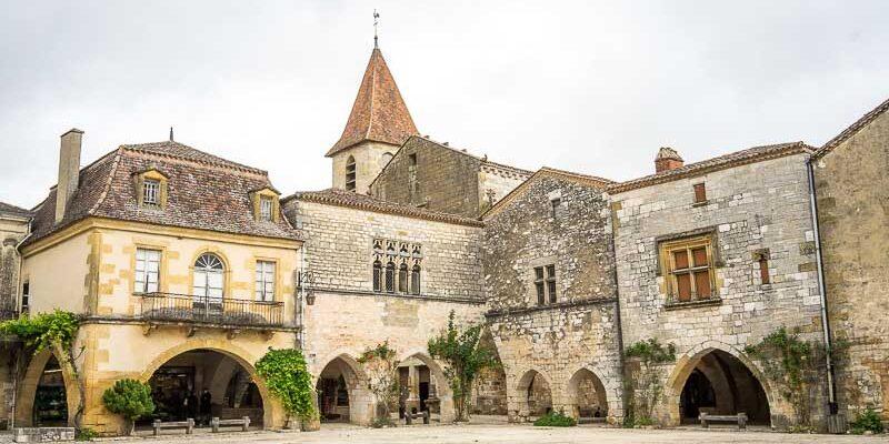 the Bastide de Monpazier in the French Dordogne