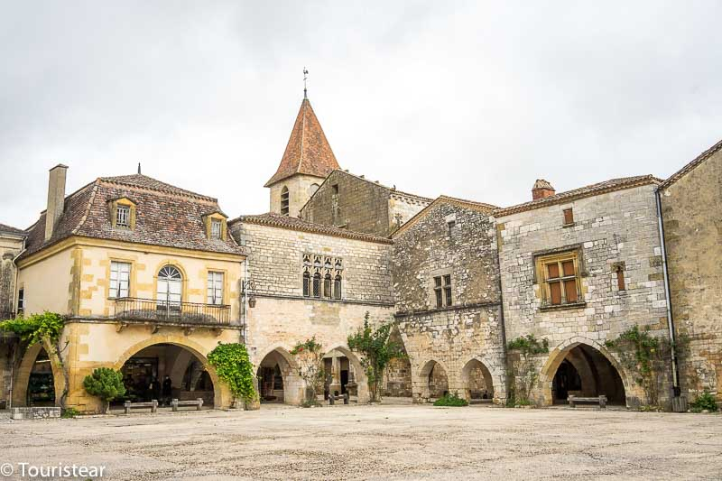 the Bastide de Monpazier in the French Dordogne