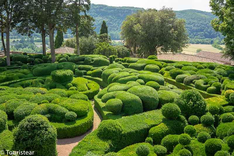 Jardines colgantes de Marqueyssac en Perigord