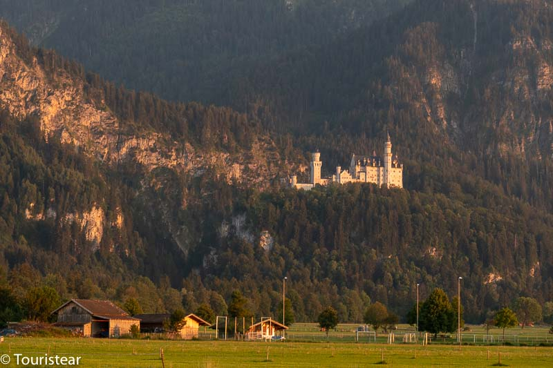 Neuschwanstein Castle from the van car park