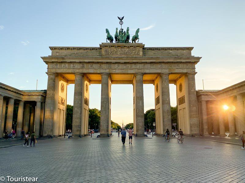 Puerta de Brandeburgo, Berlin, al atardecer
