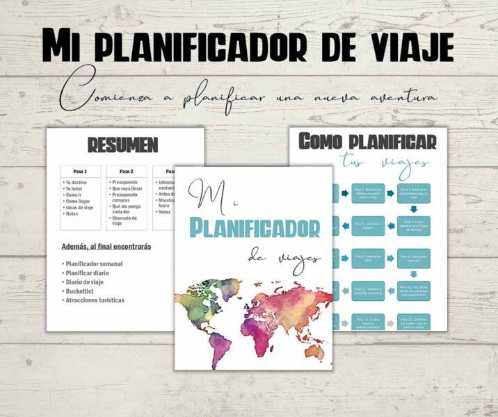 planificador de viajes en PDF