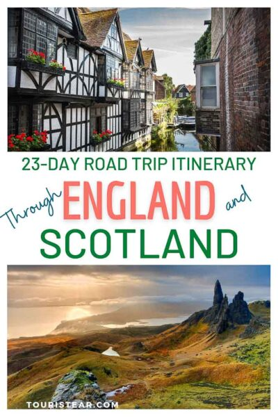 23 day road trip England and Scotland