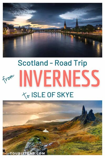 Scotland's road trip, stretch from Inverness to Isle of Skye