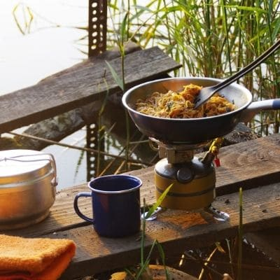 cocinar de camping
