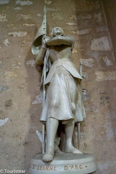 Statue of Joan of Arc in the Church of Saint-Jacques de Bergerac