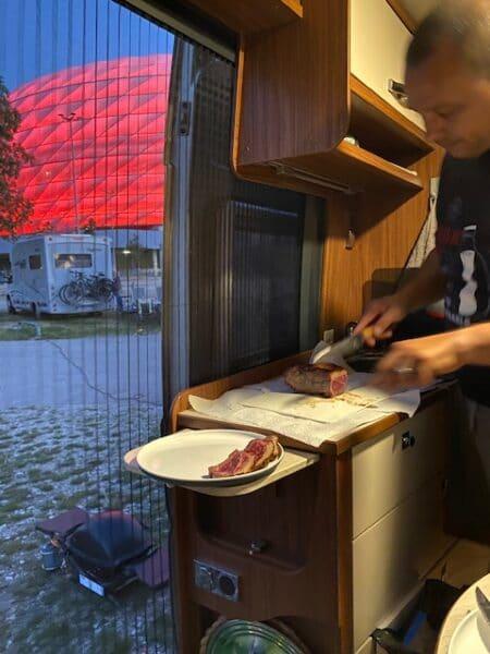 Steak on the Weber Q1200