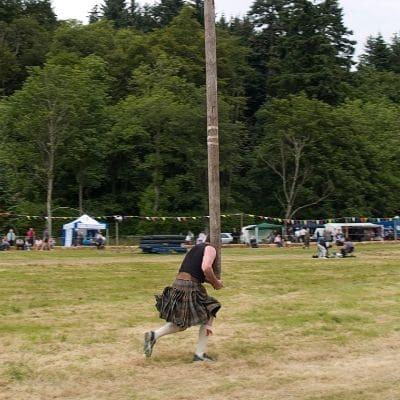 Juego de las highland, levantamiento de tronco