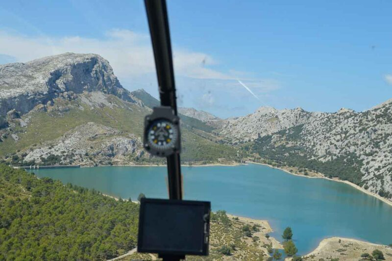 Helicopter ride over Mallorca
