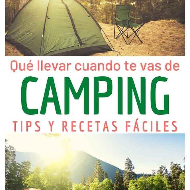 que llevar cuando te vas de camping