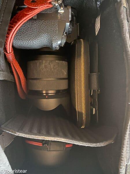 camera cube tropicfeel shell backpack